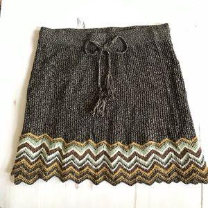 Urban Outfitters Ecote chevron knit mini skirt.